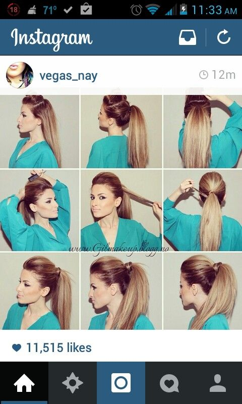 Rock star pony tail tutorial | High ponytail hairstyles, Perfect .