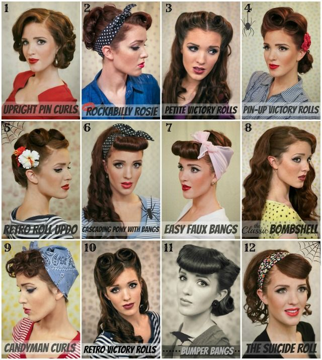Vintage Pin Up Hairstyle - AllDayCh