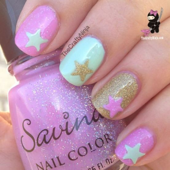 42 Playful Nail Art Designs for Summer | Cute spring nails, Spring .