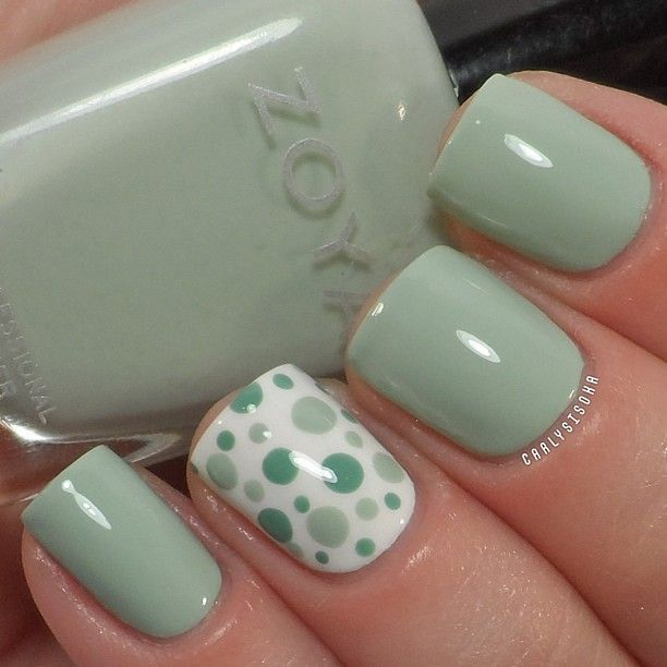 15 Polka-dot Nail Arts You Won't Miss | Dot nail desig