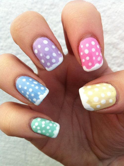 15 Polka-dot Nail Arts You Won't Miss | Pretty Designs | Polka dot .