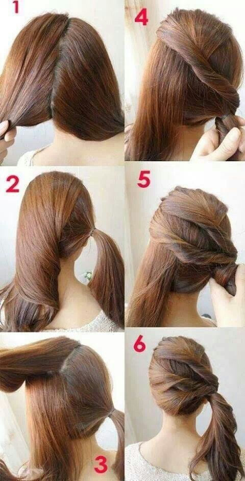 7 Easy Step by Step Hair Tutorials for Beginners | Easy hairstyles .