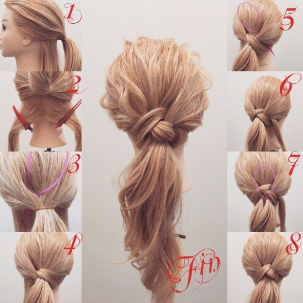 Ponytail Hair Tutorials for Beginners