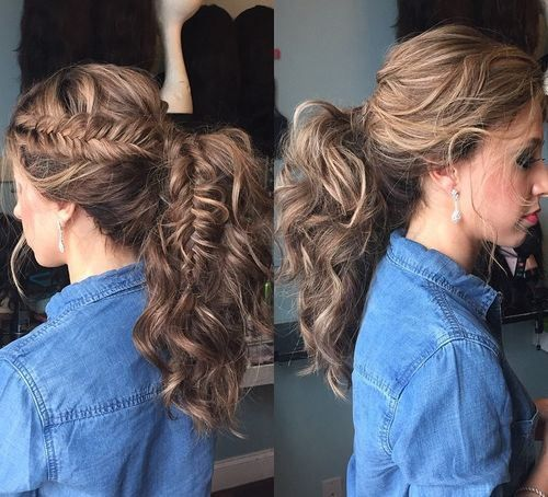 30 Eye-Catching Ways to Style Curly and Wavy Ponytails | Wavy .