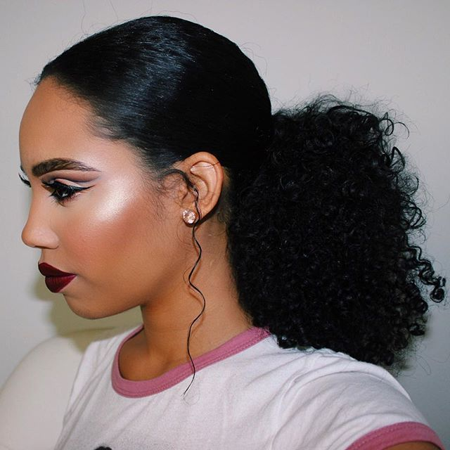 Ponytail hairstyles of black women #ponytailhairstyles .