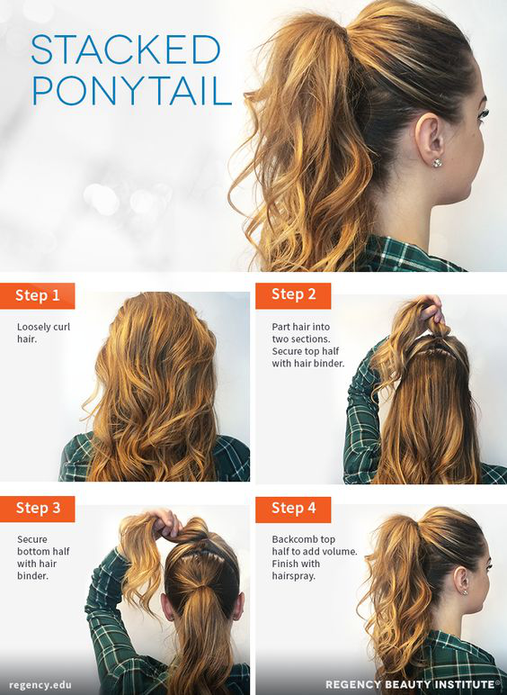 How to Create a Stacked Ponytail | High ponytail hairstyles .