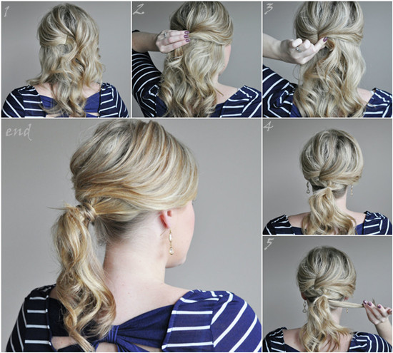 Easy 5-Minute Ponytail Tutorials For The Hot Summer Days .