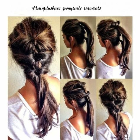 Beautiful ponytail hairstyles tutorials for summer. #hairplusbase .