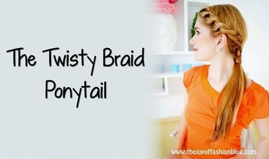 Summer Hairstyles Ideas: Twisty Braid Ponytail Hair Style .