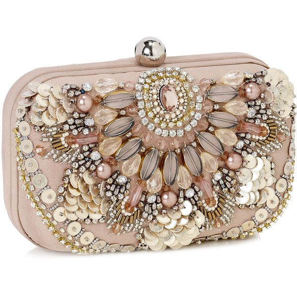 Accessorize Amazing Phoebe Embroidered Hardcase Clutch ($79 .