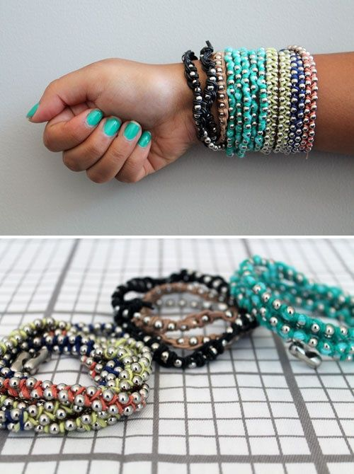 Pretty Bracelet Tutorials - Fashiontrends4everybody | Diy jewelry .