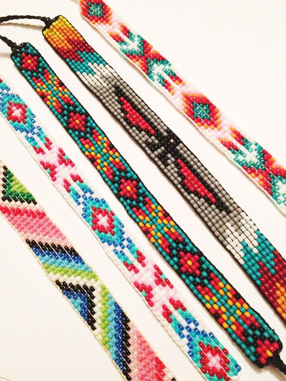 Handmade Beaded Friendship Bracelet on Etsy | Loom bracelet .