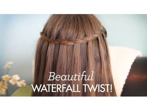 Pretty Cute Waterfall Hairstyles for   Girls