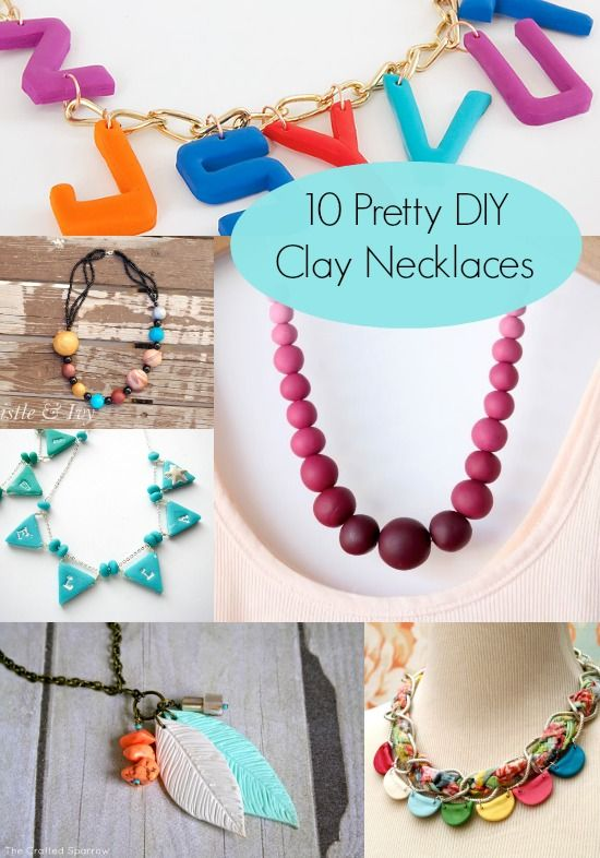 Make a Pretty Clay Necklace with One of These Ideas | Pretty .