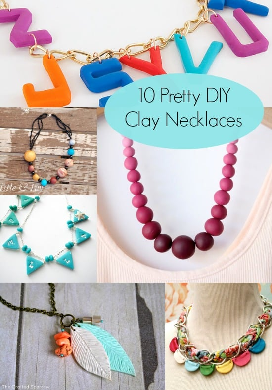 Make a Pretty Clay Necklace with One of These Ideas - DIY Can