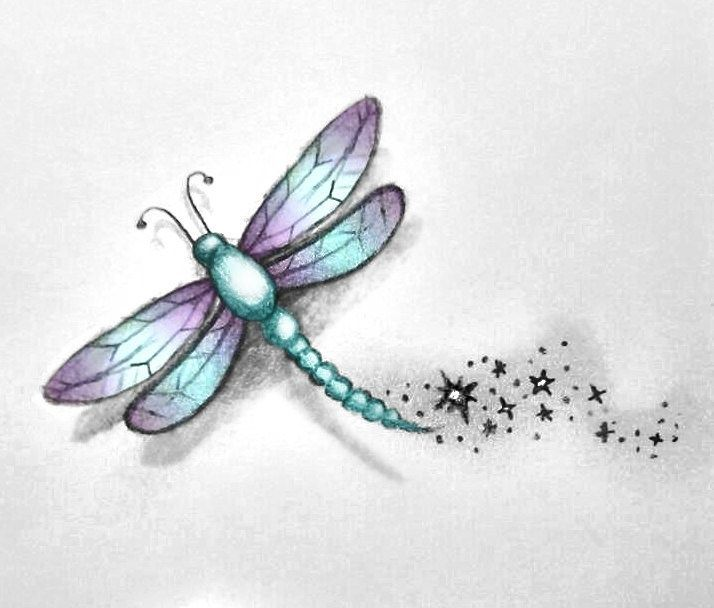 Small Dragonfly Tattoos | Dragonfly Tattoo Sketch by MissMadnesss .