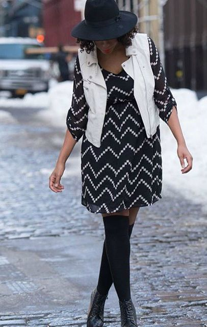 This pretty chevron print maternity dress is perfect for those .