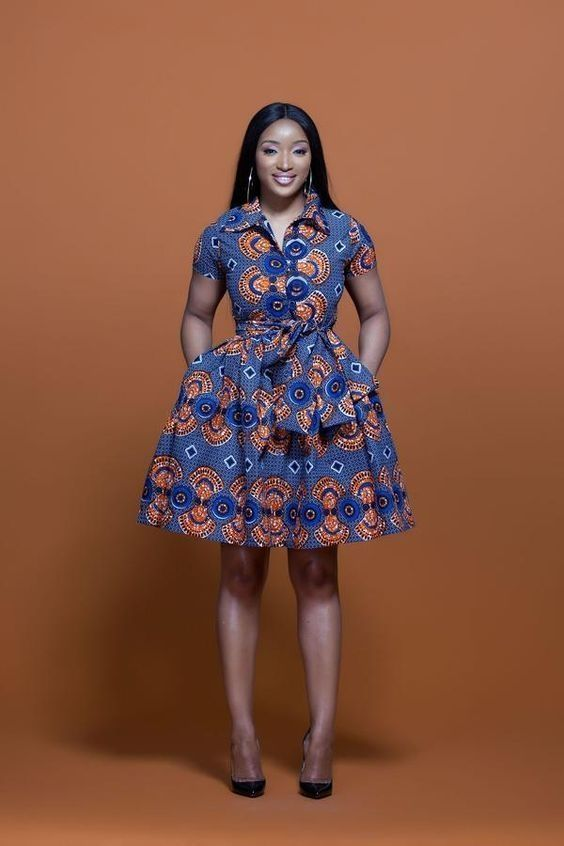 44 Beautiful Flats Ideas For The Print Dresses | Short african .