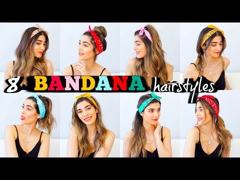 8 TRENDY BANDANA HAIRSTYLES FOR SUMMER | How to Style Bandanas .
