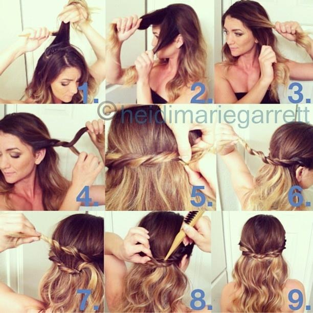 4 Cute Hairstyles for Spring! Check the Hair Tutorials Here .