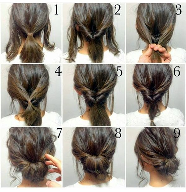quick-hairstyle-tutorials-for-office-women-33 (With images) | Long .