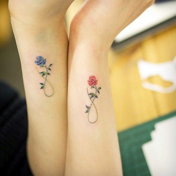 Pretty Mother-daughter Tattoo Designs