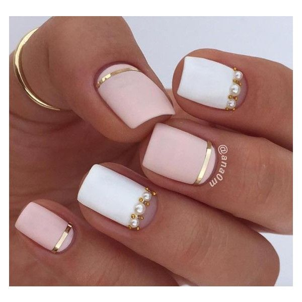25+ Nail Design Ideas for Short Nails ❤ liked on Polyvore .