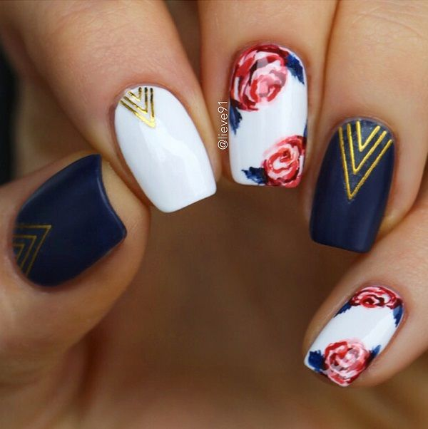 50 Top Nail Art Ideas 2018 Trends for Women | Floral nail designs .