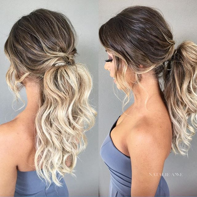 50 Pretty Easy Messy Ponytail Hairstyles You Can Try - Hairstyles .