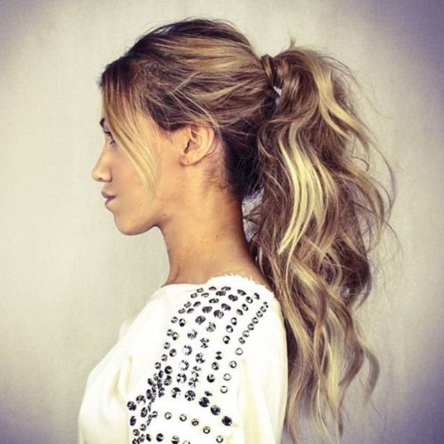 25 Pretty Easy Messy Ponytail Hairstyles You Can Try - Hairstyles .