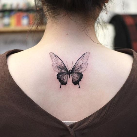 30 Pretty Butterfly Tattoo Designs For Women #tattooquotes | Neck .