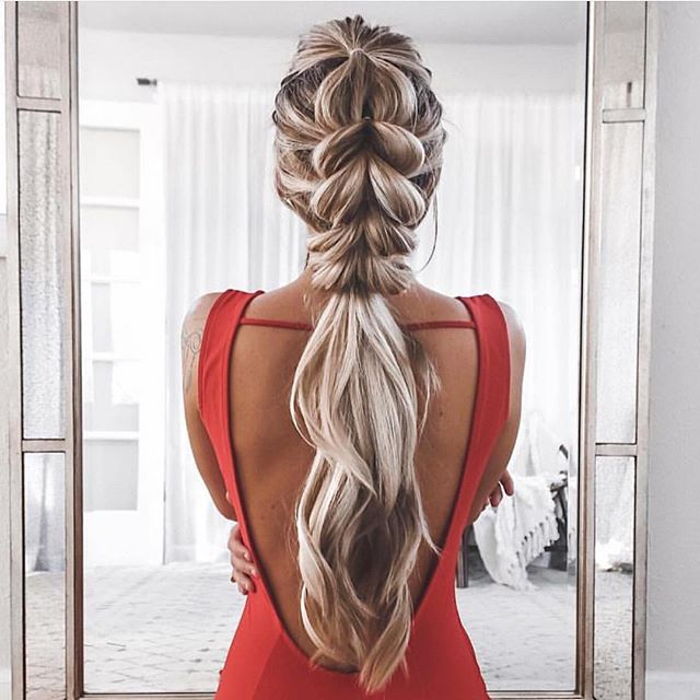 Pull through braid hairstyle - Hair and Beauty eye makeup Ideas To .