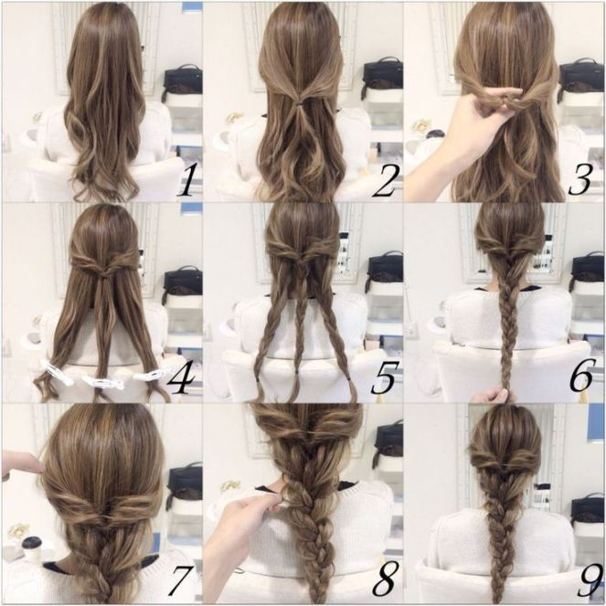 10 Quick and Easy Hairstyles (Step-by-step) | Braids for long hair .