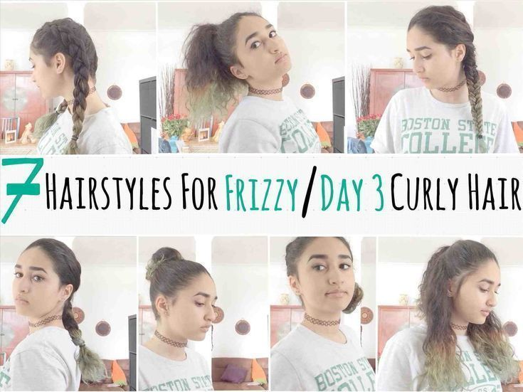 20 quick hair tutorials to make an easy morning. curly messy bun .