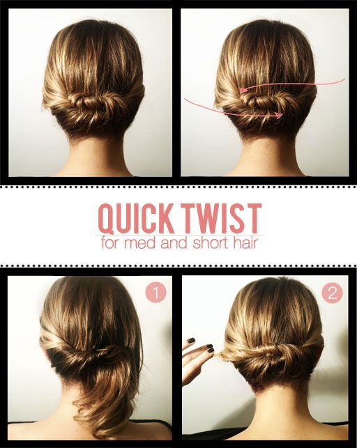 23 Five-Minute Hairstyles For Busy Mornings | Hair lengths, Medium .