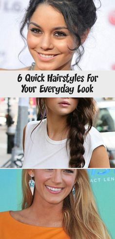 6 Quick Hairstyles For Your Everyday Look | Quick hairstyles .