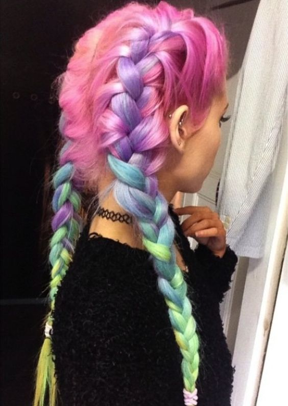 10 Gorgeous Rainbow Hairstyles - Hair Color Trends 2020 - Styles .