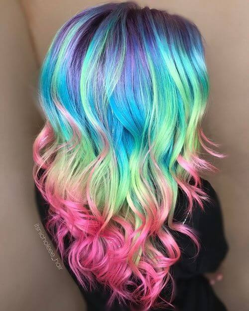 Rainbow hairstyles for long hair | Hairstyl