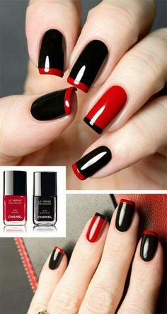 14 Best Red & Black Nails images | Red black nails, Nail designs .