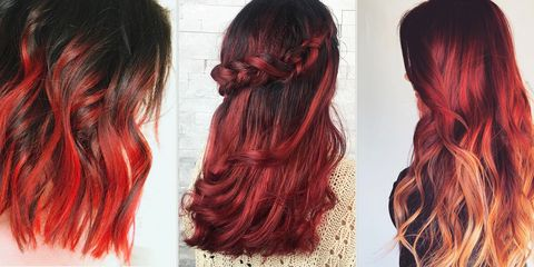 Red Ombre Hairstyles - Red Ombre Hair Color Ide