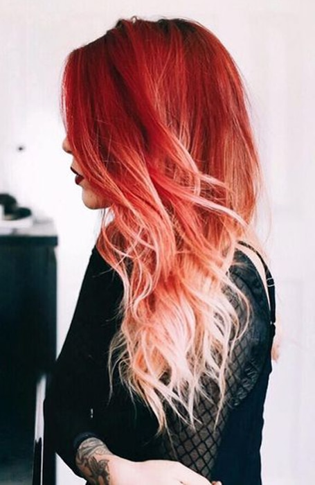 The Most Gorgeous Red Ombre Hair Ideas for Fiery Ladi