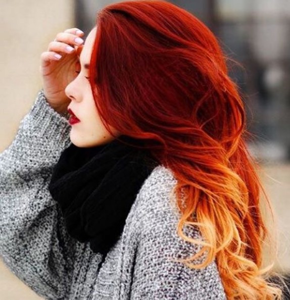 18 Most Popular Red Ombre Hair Ideas/ Ombre Hairstyles .