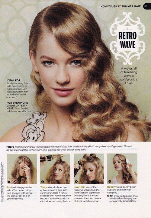 20 Stylish Retro Wavy Hairstyle Tutorials and Hair Looks | Retro .