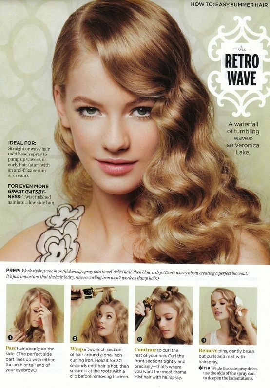 Hair: Side-Swept Wavy Hair trend & tutorial | Hair styles, Curly .