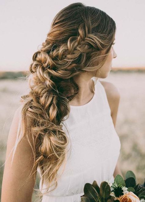 Romantic Braid Styles You Must Try in 2018 | Wedding hair side .