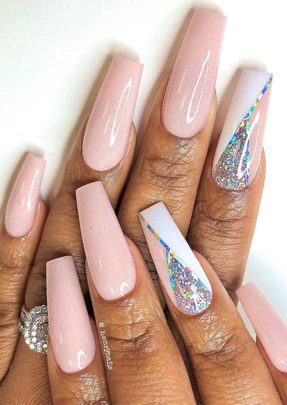 35 Soft, Romantic and Creative Nail Art Designs and Color Ide
