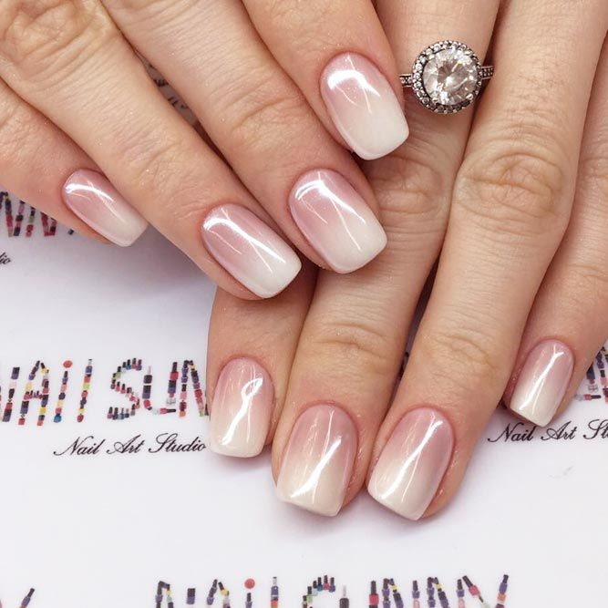 27 Pink Nails Designs to Look Romantic and Girly   Pink ombre .