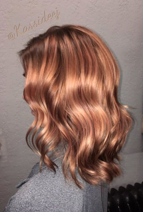 19 Best Rose Gold Hair Color Ideas for 2020 | Gold hair, Cool hair .