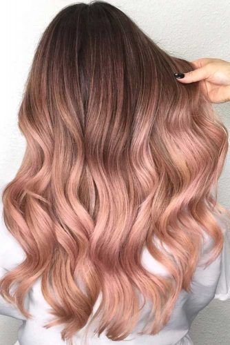Why And How To Get A Rose Gold Hair Color | Gold hair colors .