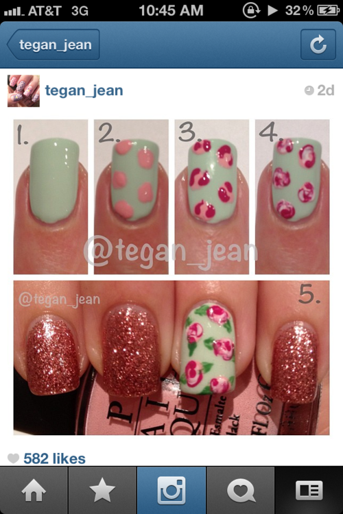 Rose Nail Tutorials You Must Love for Summer   Rose nails, Rose .